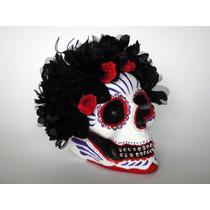Catrina Con Rosas Negras Decoración Día De Muertos Adorno