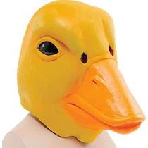 Disfraz De Pato - Amarillo Deluxe Rubber Overhead Máscara D