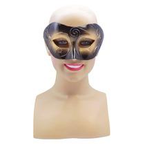 Masquerade Costume - Negro Oro Cara Máscara De Ojo Con Surr