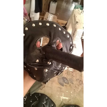 Máscara Slipknot Pinocho Chris Cuero Sintético Metal Negra
