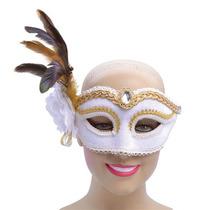 Masquerade Costume - Señoras Blanca Side Flor De La Pluma Gf