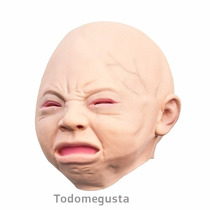 Máscara De Bebe Llorando Disfraz Halloween Latex