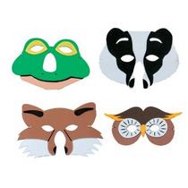 Máscara Animal - Fauna Británica Espuma Vestido De Lujo De