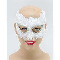 Máscara De Ojos - White Owl Feather Pájaro Disfraz Nuevo
