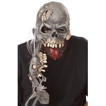 Mascara Zombi Con Quijada Desmontable. Halloween Disfraz