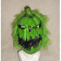 Halloween!!! Exótica Máscara Completa De Calabaza Verde!!
