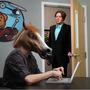 Mascara Cabeza De Caballo Tipo Harlem Shake Creepy Horse