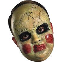 Mascara Rígida De Muñeca De Terror. Disfraz Halloween