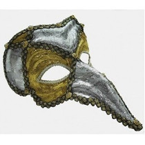 Masquerade Costume - Oro Plata Loki Ojo Cara Máscara De La