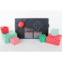 Tabla Gift Box Crea Cajas Papel Cartulina Scrapbook Redondea