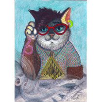 Dibujo Original (gatoh - Fahrent) Prismacolor, P.algodon A4