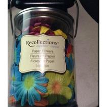 Bote Con Flores De Papel Recollections En Colores Surtidos