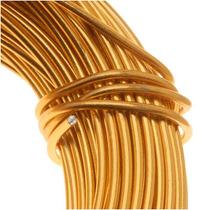 Alambre Color Oro De Aluminio Calibre 18 (11.8 Metros)