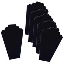 6caballetes Soportes Joyas Collares Terciopelo Negro 31.5cm