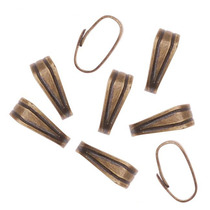 Antiqued Brass Snap Bail For Jewelry Small 6mm (50 Pieces)