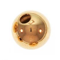 Perlas Redondas De Una Pieza 6mm (4) Laminadas En Oro 14k