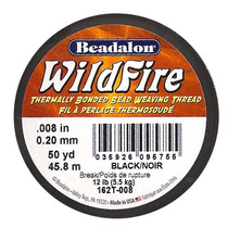 Hilo De Cuentas Térmico Negro .2mm Wildfire 45 Metros
