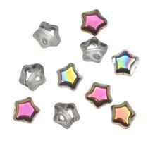 Cuentas Checas Vitral Cristal Pequeñas Estrellas 6mm (25)