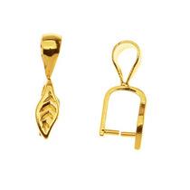 Pendientes De Cristal Y Piedras De Hoja Latón Bañados En Oro