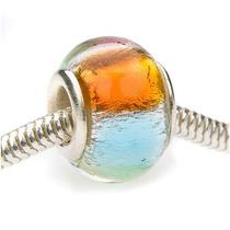 Cuentas Estilo Europeo Cristal De Murano Aluminio Arcoíris