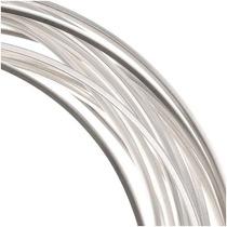 Alambre Bañado En Plata Para Fabricar Collares 18ga (12ft)