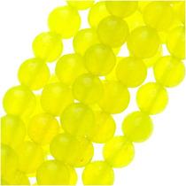 Cuentas Redondas 4mm Jade Caramelo Amarillo Neón Hebra 39cm