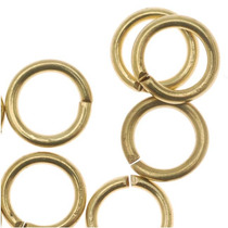 Solid Raw Brass Open Jump Rings 19 Gauge 6mm (50)