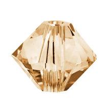 Swarovski Cuentas Cristal, 5328 Bicono, Sombra Oro Cristal