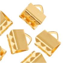 Tenazas De Agarre En Listón Con Placa De Oro 6 X 5mm (20)