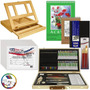 Kit De Pintura Art Supply® Acuarela Oleo Acrílico 68 Piezas