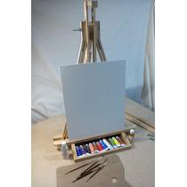 Kit Pintura Oleo, Portafolio Basico, Caballete, Bastidor