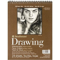 Strathmore Alambre Bound Medio Peso Papel Cuaderno De Dibujo