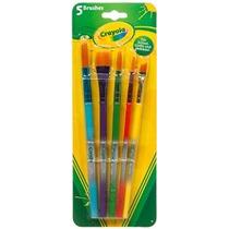 Crayola 5ct De Arte Y Artesanía Del Sistema De Cepillo