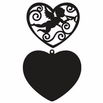 Scrapbook Suaje Corte Corazon Amor Sizzix Papel Invitacion