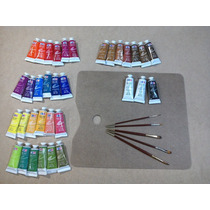 Juego Oleos Completo, Set Pintura, Todos Los Colores, Arte