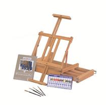 Kit Caballete Para Pintura Artistica Arte Dibujo + Accesorio