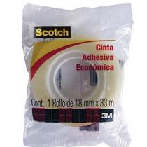Cinta Scotch Economica 18x33 , 1 Piez Polipropileno 3m 3/4