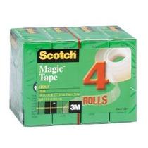 Scotch Tape Magia, 3/4 X 1,000 Pulgadas, En Caja, 4 Rollos (