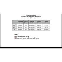 Tubería Galvanizada Cédula 40