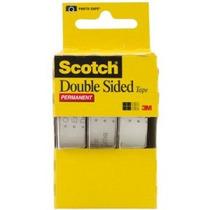 Scotch Tape Doble Permanente Sided 1/2 X 250 Pulgadas 3-pack