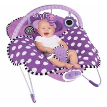 Sillita Mecedora Bebe Bouncer Sassy Cuddle Violet Butterfly