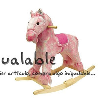 Mecedora Para Niños De Caballo Pony Rosa