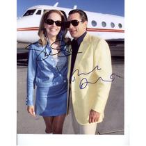 Autógrafo De Robert Deniro Y Sharon Stone Foto 8x10 C/ Coa
