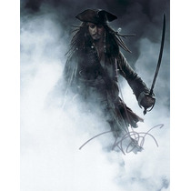 Autógrafo De Johnny Depp En Foto 8x10 Con Certificado Coa