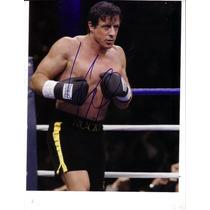 Autógrafo De Sylvester Stallone Foto 8x10 C/ Certificado Coa