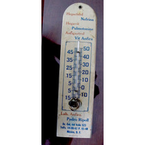 Antigua Publicidad De Botica D.f. Termometro Para Coleccion