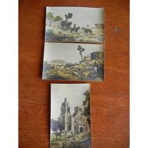 Antiguas Postales (3) Mexicanas Siglo Xix Pintadas A Mano