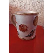 Taza Caracoles Y Conchas Marinas By Mary Hughes