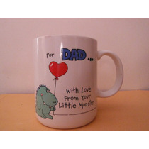 Taza Dad Little Monster By Williard Vintage Retro Japon 1986