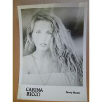Carina Ricco Foto Publicitaria Años 90 Sony Music